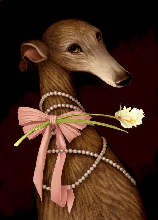 Art We Heart: Kim Parkhurst's Ornate Greyhounds | Dogster