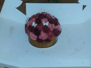 Red and pink rose cake (diabetic)