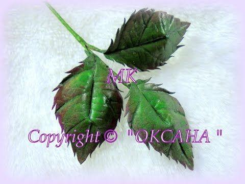 Мк листьев из Иранского фоамирана - YouTube