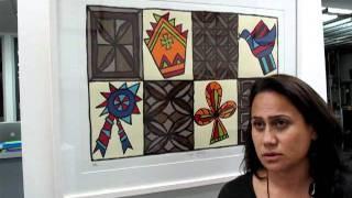 New Zealand artist Dagmar Dyck @ Flagstaff Gallery, via YouTube.