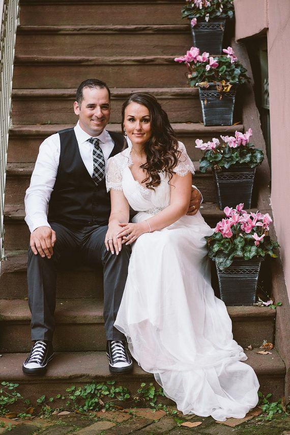 Aspen Vintage Lace Wedding Dress whimsical Wedding Dress by ieie