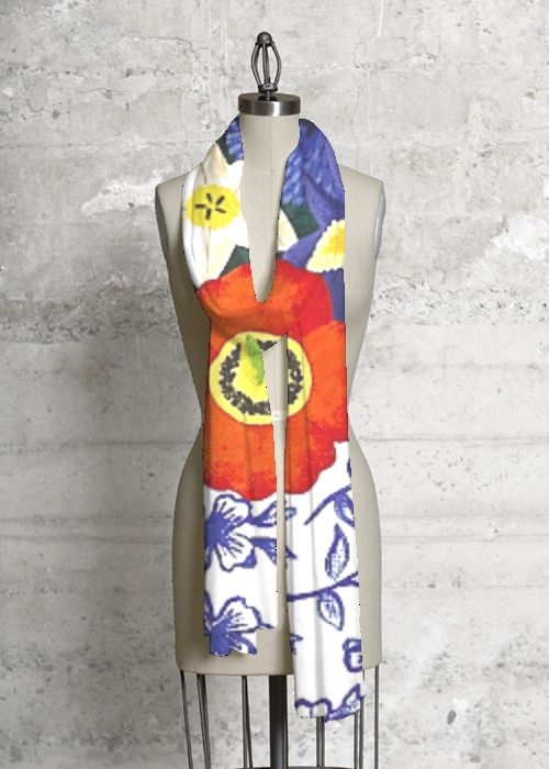 Modal Scarf - Six Colors Composition 1 by VIDA VIDA