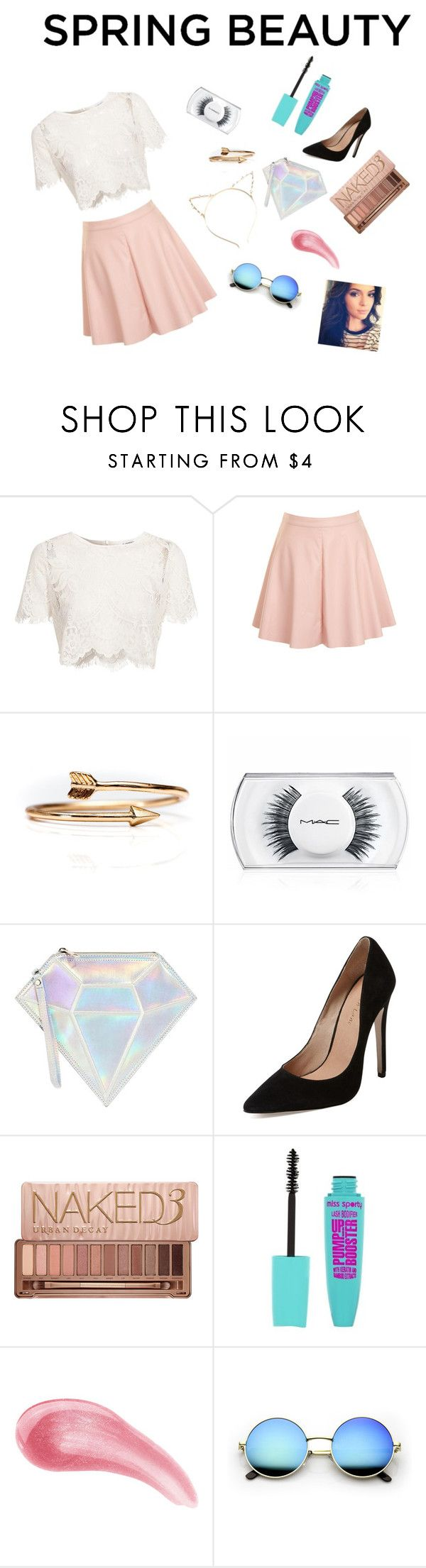 """""""Spring Beauty"""" by pinkcreamfashion ❤ liked on Polyvore featuring Glamorous, Burke Decor, MAC Cosmetics, WithChic, Maiden Lane, Urban Decay and Bare Escentuals"""