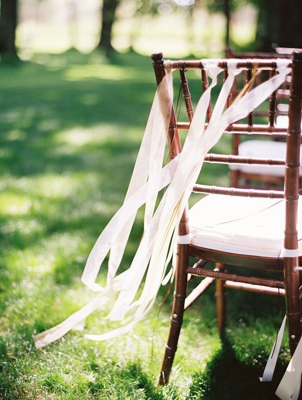 Lovely and simple for an outdoor wedding. Just need a little breeze.