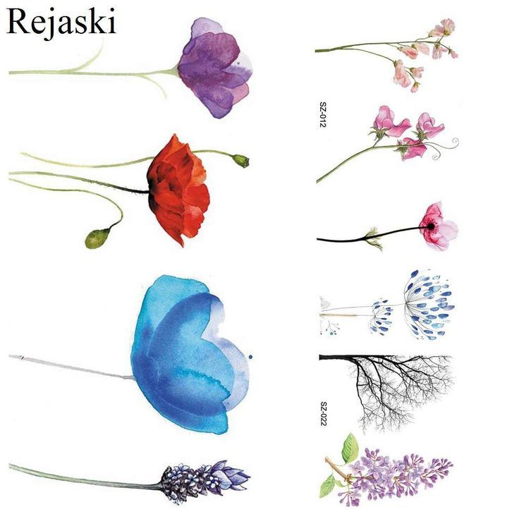 Rejaski Lovely Flower Temporary Tattoo Stickers Kids Colorful Pteris Water Trans…   – diy tattoo