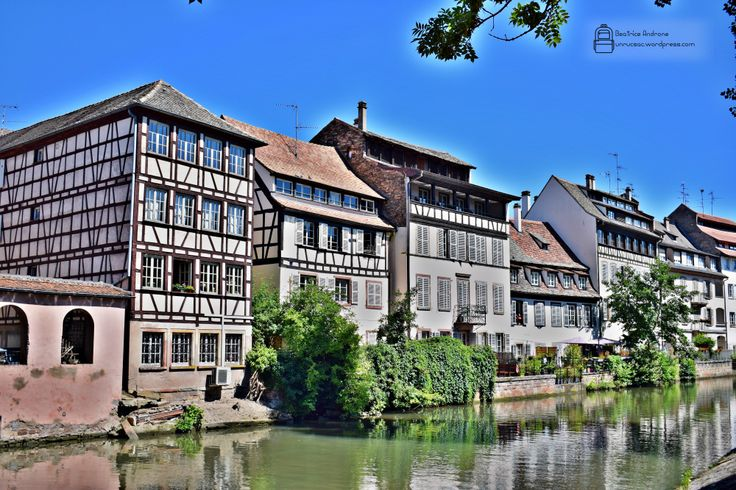 Beautiful half-timbered houses from Strasbourg, France. Visit Strasbourg, Alsace Region. Amazing food and wonderful places