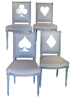 Card Suits Chairs For A Card Table, Maybe.