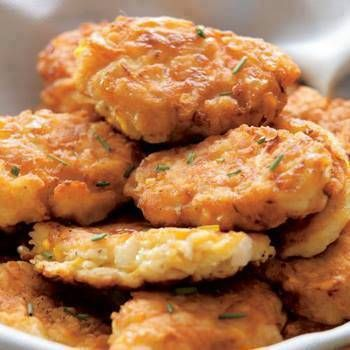 Yellow Squash Croquettes -- I baked rather than fried and then froze. Very good way to use an abundance of yellow squash.