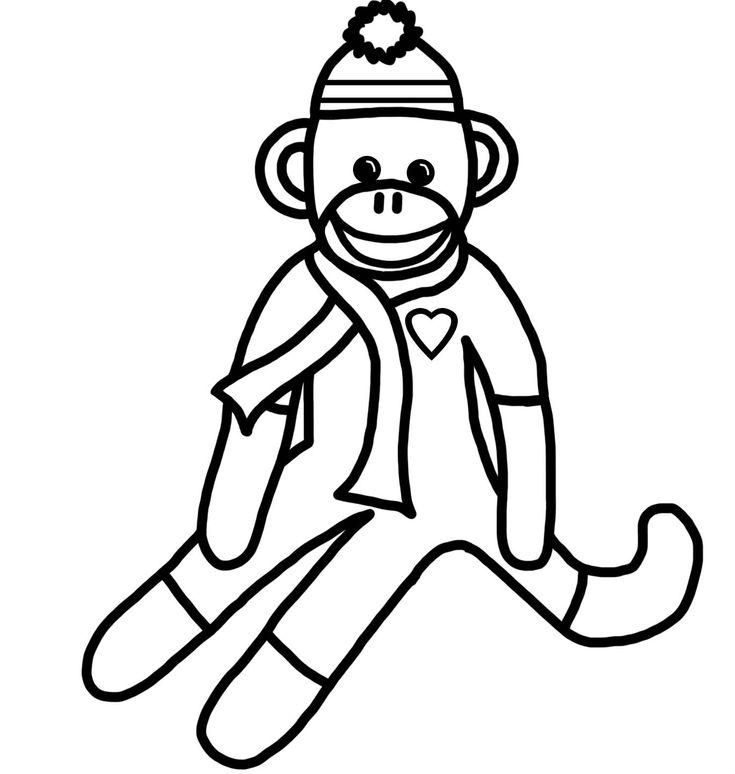 Romans Monkey Coloring No Words 1368x1440