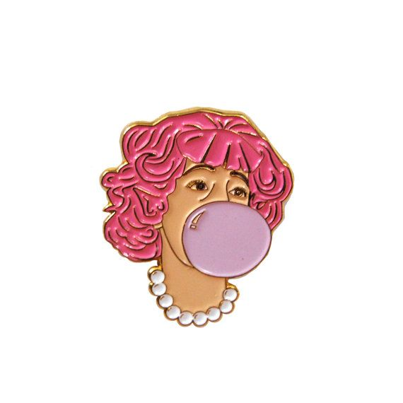 Soft Enamel Pin. Measures 1.5 in height. Rubber Clutch.