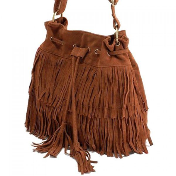 Retro Style Tassels and Suede Design Women's Crossbody Bag, BROWN in Crossbody Bags | DressLily.com