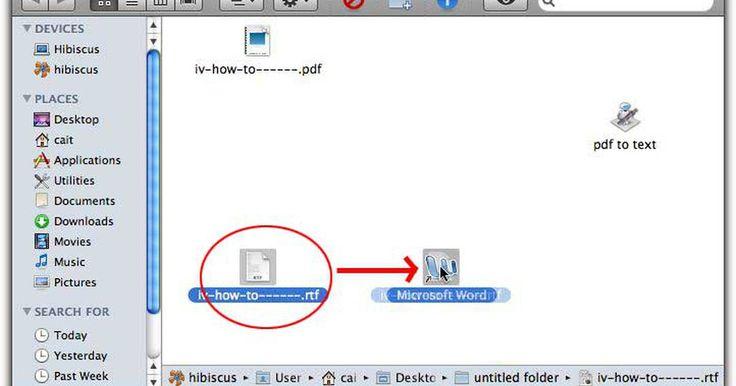 """Como converter um PDF para documento Word em um Mac. Criar um PDF no Mac - de qualquer aplicativo - é tão fácil quanto imprimir. Mas se você precisar extrair o texto de um documento PDF para usar no Word e não tiver a versão completa do Adobe Acrobat? Usando o aplicativo de script nativo do Mac, o """"Automator"""", você pode fazer um aplicativo de """"clica e arrasta"""" simples para extrair texto formatado de ..."""