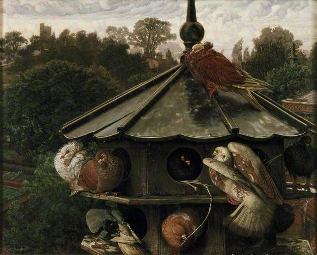 "William Holman Hunt ""The Festival of St Swithin (The Dovecot)"" (1865)"