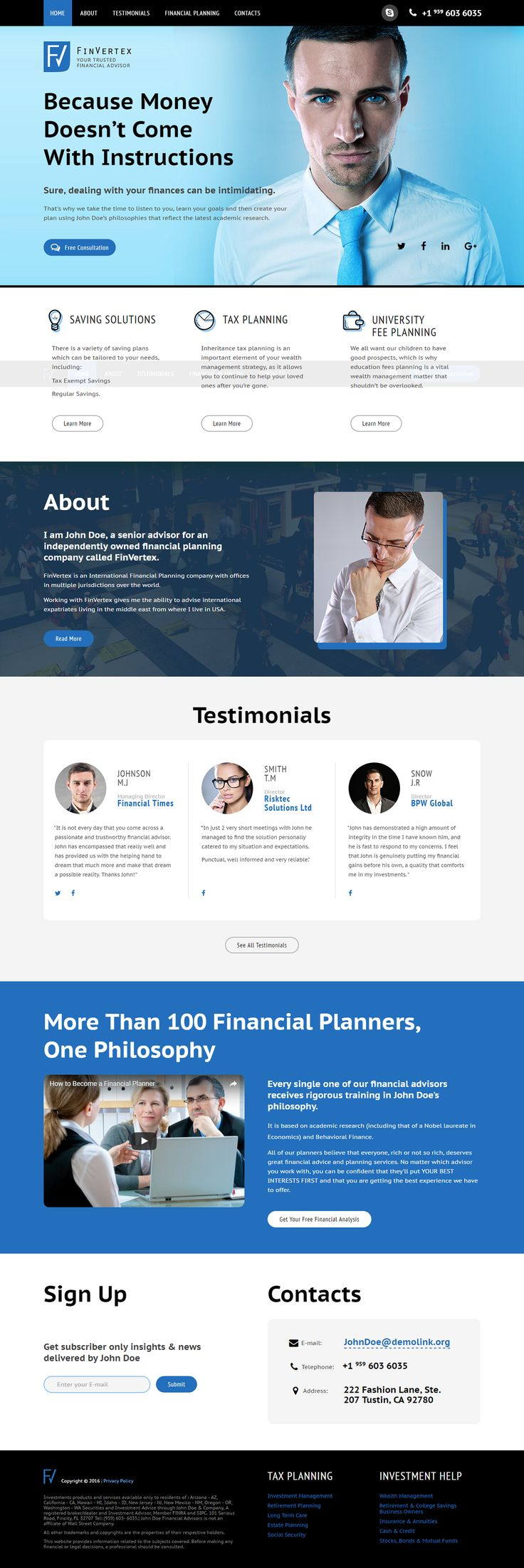 208 best landing page templates images on pinterest page template financial advisor landing page template on behance flashek Gallery