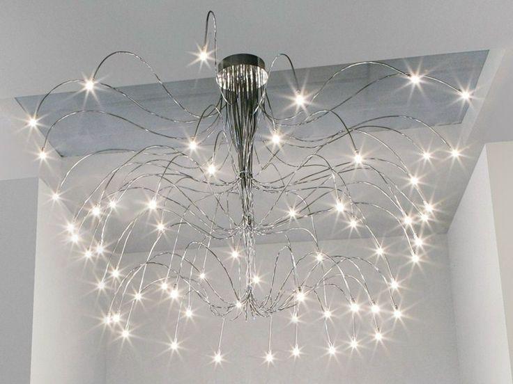 Lampada da soffitto in metallo cromato con braccio ...