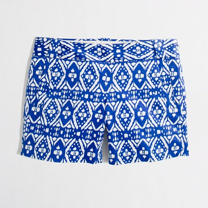 "j crew 5"" printed stretch chino short. Because who doesn't want to fork over a hunny for 5 inches of fabric?"