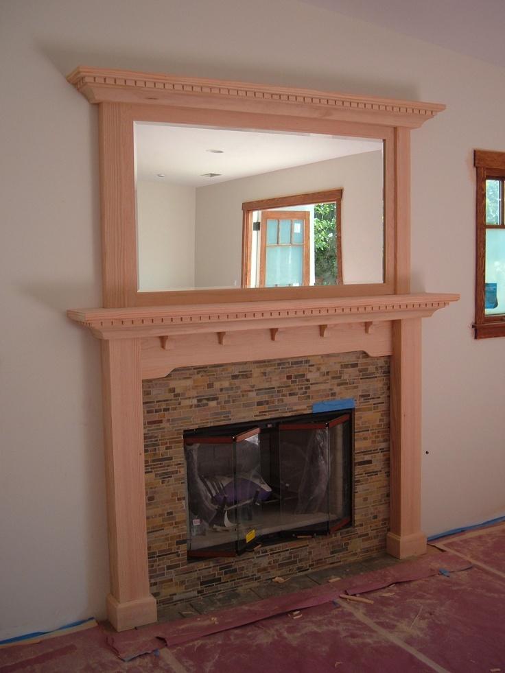 Print Of Craftsman Fireplace Mantel Ideas