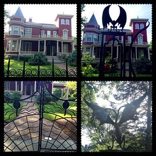 Stephen King's home in Maine. on my bucket list to have my pic taken in front of those gates.