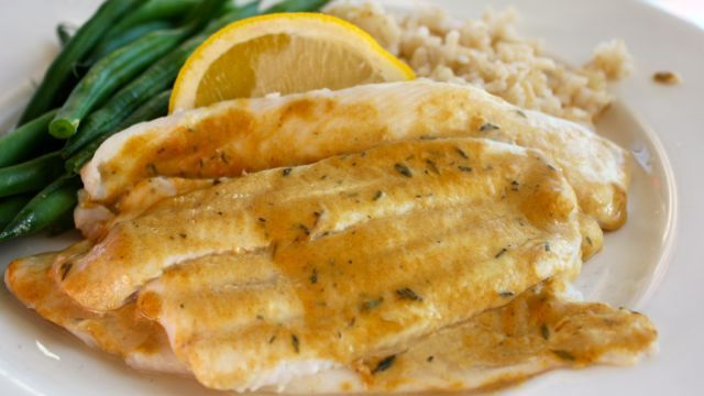Broiled Sole With Mustard And Thyme