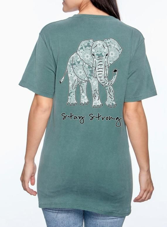 Elephant Mandala Stay Strong T Shirt Boho Elephant Shirt