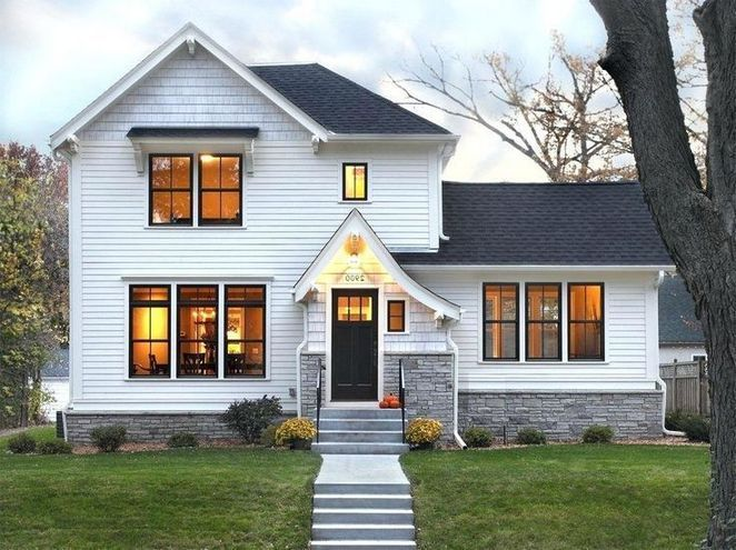 40 White House Black Windows What Is It 223 Decoryourhomes Com White Exterior Houses White House Black Windows House Designs Exterior