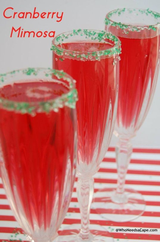 Cranberry Mimosa - must pin! Easy (and yummy) holiday drink!