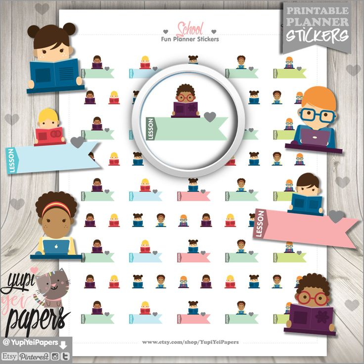 50%OFF - School Stickers, Printable Planner Stickers, Back to School Stickers, Homework Stickers, College Stickers, Student Stickers