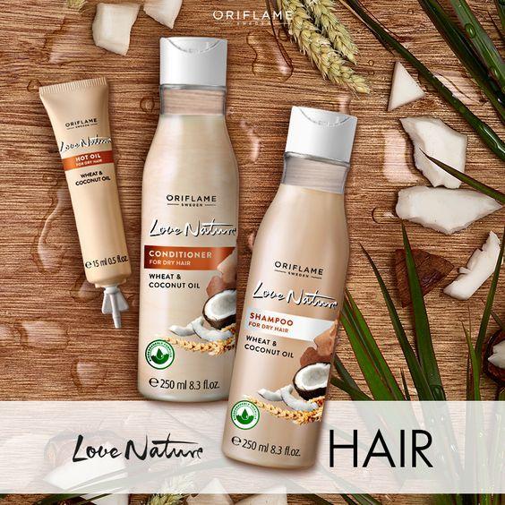 #LoveNature con #aceitedecoco y trigo, devolverá la hidratación a tu #cabello, manteniéndolo más suave, fuerte y brillante! ❤️ Pide aquí tu #CatálogoGratis ! mundobellezatotal.blogspot.com.es/p/hazte-vip.html