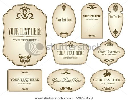 .Labels Shape, Vintage Labels, Vector Vintage, Labels Stockings, Impresionism Vintage, Impresion Vintage, Impr Vintage, Designbak Logo