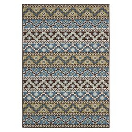 indoor or outdoor use . Accent rugs may also not show the entire pattern that the corresponding area rugs have.Cleaning and Care: Sweep, vacuum or rinse off with a garden hose