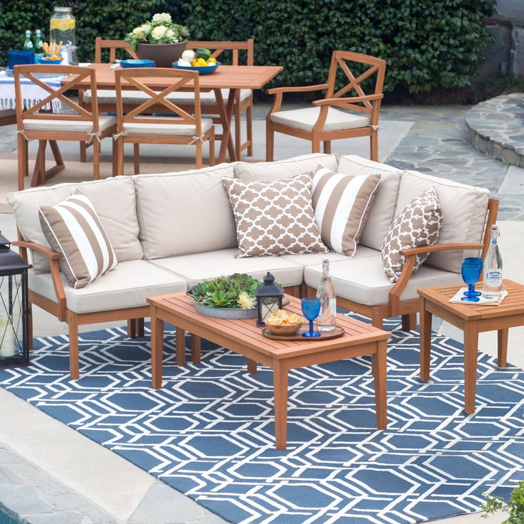 Belham Living Brighton Outdoor Wood Conversation Sectional ... on Belham Living Brighton Outdoor Daybed id=25455
