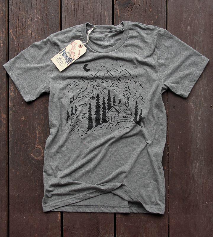 Cabin Life | Speckled Grey  Artwork by Joe Horacek of Little Mountain Print Shoppe.