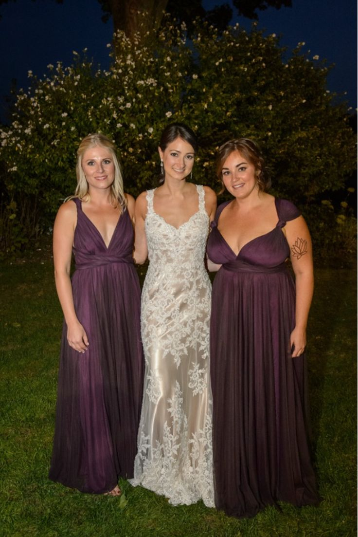 116 best bridesmaid images on pinterest brides bridesmaid plum tulle purple twobirds bridesmaid dresses a real wedding featuring our multi way ombrellifo Images