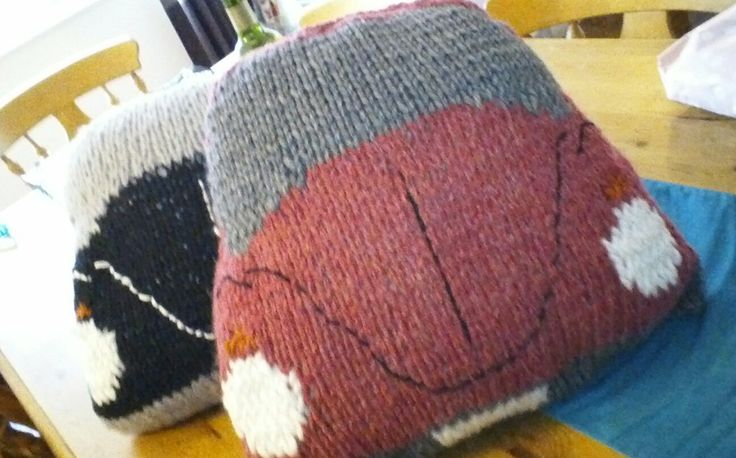 17 Best images about Knitted Campervan and Beetle Cushions on Pinterest For...