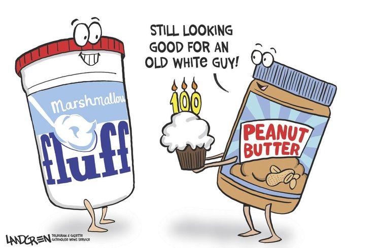 Don landgren cartoon on marshmallow fluff turing 100