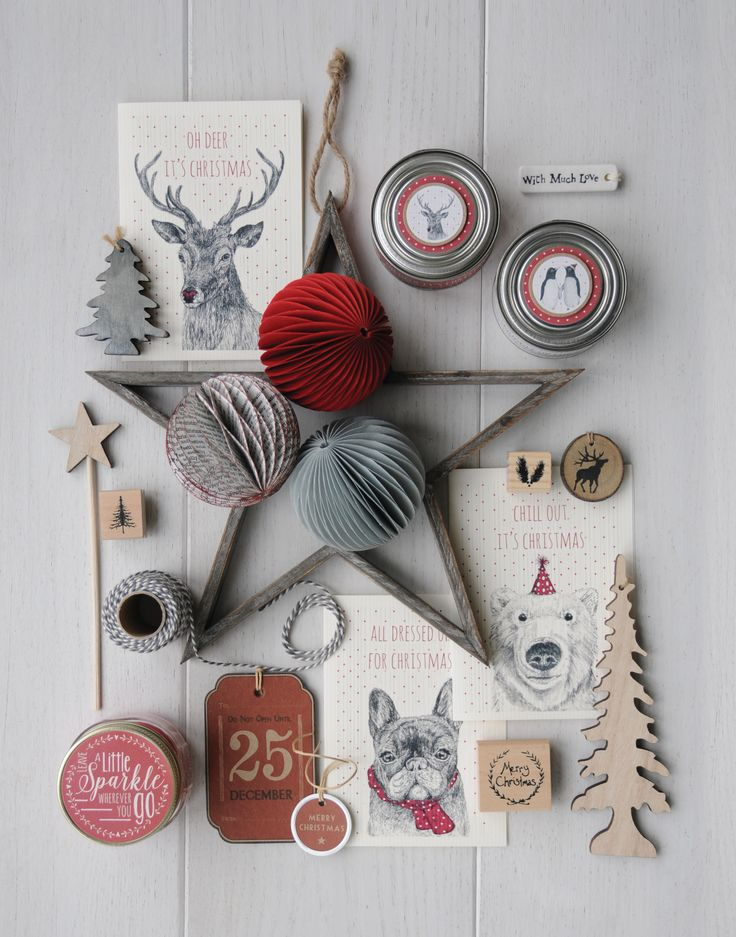 East of India Christmas scent tinned candles, paper baubles, star decorations and other Christmas goodies!