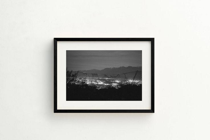 TITLE: Grenoble at Night, MEDIUM: Fine art giclée print PAPER: Hahnemühle Photo Rag 308GSM PRINT SIZES: 5x7, 8x10, 8x12, 11x14, 16x20, 16x24, 24x30 with 1/2 white border. Other sizes available. Please enquire.    Looking out over Grenoble at night, the city lights through a torn down fence - Mont Blanc in the distance. Frame not included.  © Erica Wheadon, 2017. All rights reserved.  Artwork may not be reproduced or resold without the express permission of the artist. Please see FAQ for ...