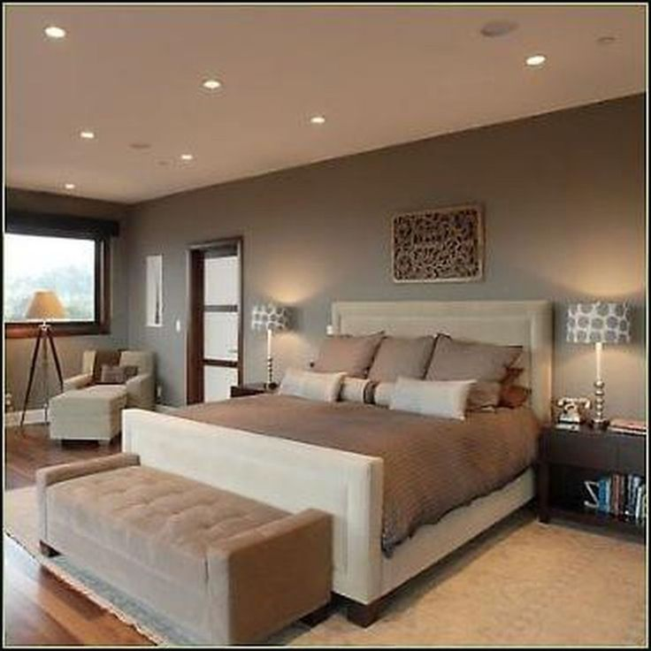 Enchanting Bedroom Decorated With Hidden Ceiling Lamps And Cream Bed Idea  Also White Couch Bed Near