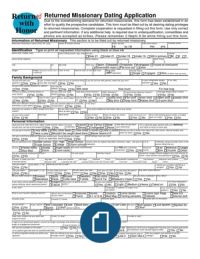 Returned Missionary Dating Application