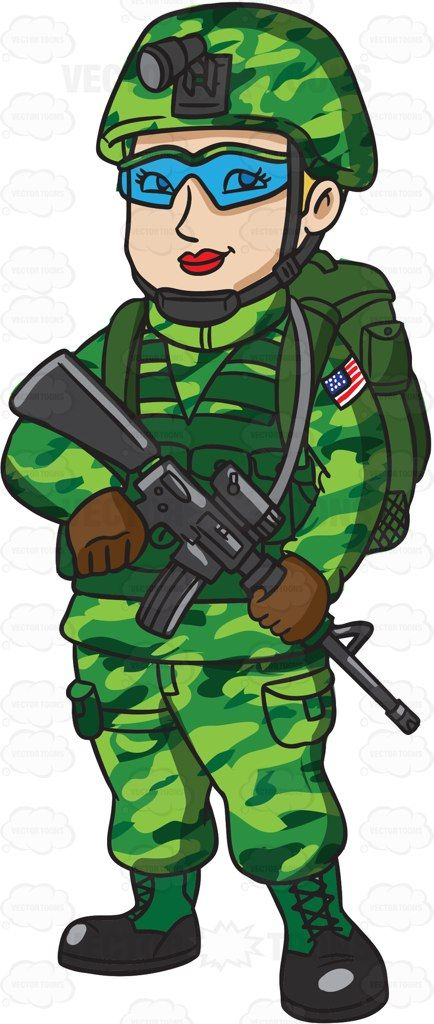 A Female Us Marine Corps Soldier In Her Utility Uniform | Products ...