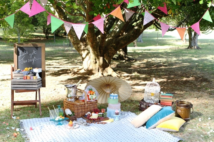 Pure romance... A wedding proposal picnic we created at short notice for a very lucky girl...
