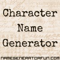 Character Name Generator - generate random names from a huge database of diverse common names from around the world, choose the ethnicity of your character's name, and the period in which they were born, from realistic Victorian names through to character names for the present day.: