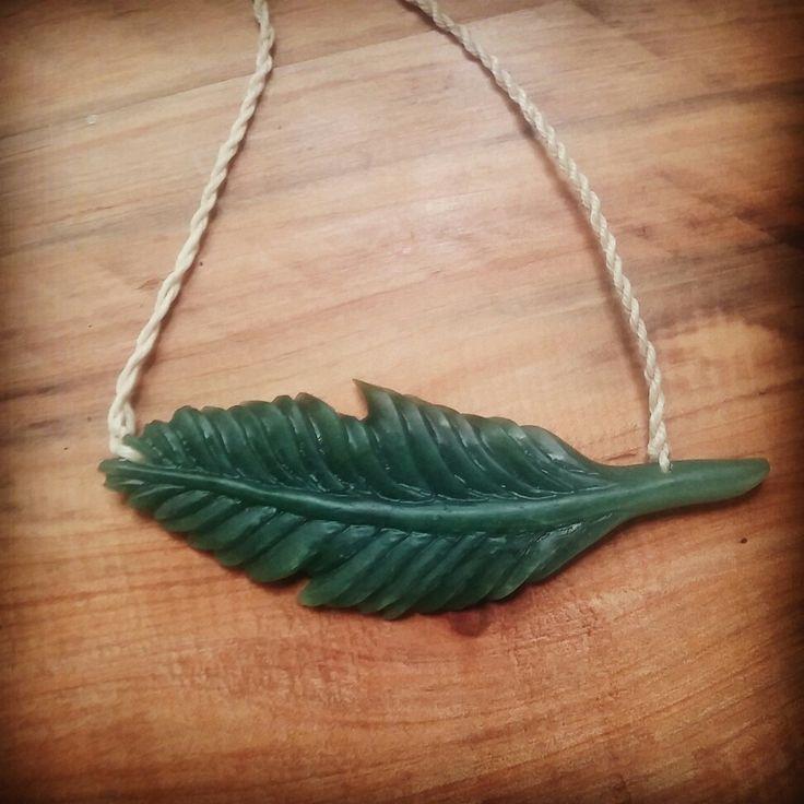 Feather. Pounamu/NZ Jade.