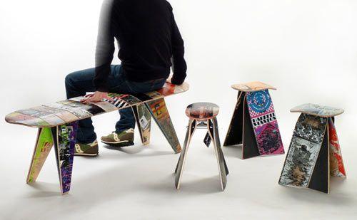 Skates as furniture