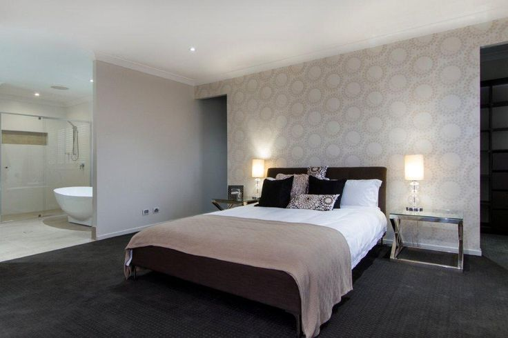 Beautiful Main Bedroom with Feature Wall, Ensuite and Walk in Robe by Nuvo Homes