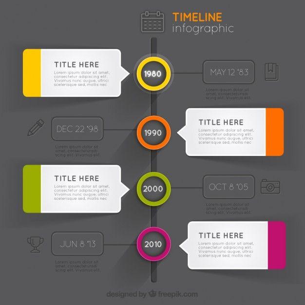 Modern cronograma infográfico