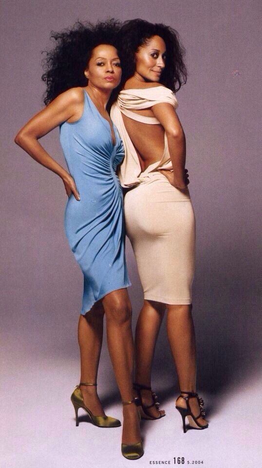 Diana Ross & Tracey Ellis Ross ....check out that booty!