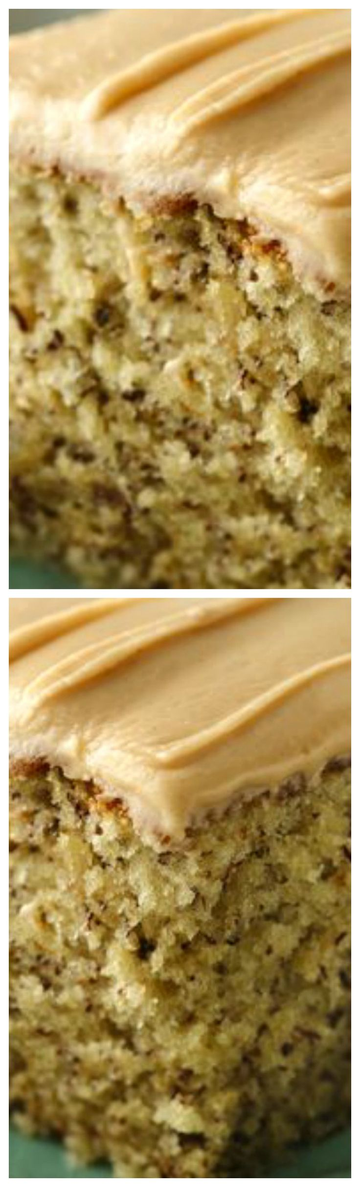 Banana-Nut Cake with Peanut Butter Frosting ~ Banana and peanut butter come together in a homemade cake that feeds a crowd.