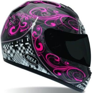 Wearing a protective helmet is important. But, these womens motorcycle helmets are getting fabulous. Pink, HOT pink, and girly helmets. Put some bling on it.