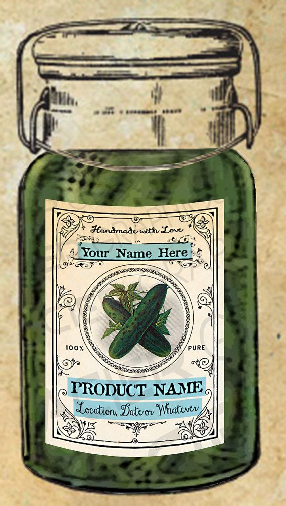 pickles labels pickle canning labels download pickle tags editable digital download printable
